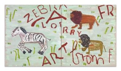 Lorry Art 2010 Oil on Canvas 185 x 334 cm Rose Wylie