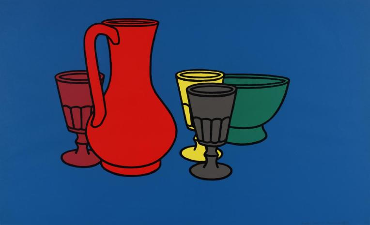 Coloured Still Life 1967 Patrick Caulfield 1936-2005 Presented by Rose and Chris Prater through the Institute of Contemporary Prints 1975 http://www.tate.org.uk/art/work/P04077