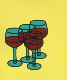 Wine Glasses 1969 Patrick Caulfield 1936-2005 Presented by Rose and Chris Prater through the Institute of Contemporary Prints 1975 http://www.tate.org.uk/art/work/P04092