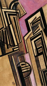 Vorticist Composition 1915 Wyndham Lewis 1882-1957 Presented by Miss Ethel M. Saunders in memory of her sister 1963 http://www.tate.org.uk/art/work/T00625
