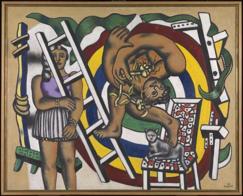 The Acrobat and his Partner 1948 Fernand L?ger 1881-1955 Purchased 1980 http://www.tate.org.uk/art/work/T03118