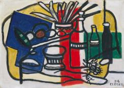 Three Bottles 1954 Fernand L?ger 1881-1955 Presented by Gustav and Elly Kahnweiler 1974, accessioned 1994 http://www.tate.org.uk/art/work/T06800