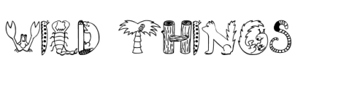 wild things font