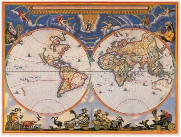 1662 World map Blaeu - low
