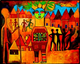 69-African-Village-Painting